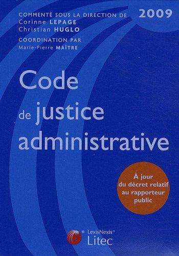 Code de justice administrative 2009