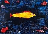 Paul Klee Poster Papier Peint - Le Poisson Doré, 1925, 3 Parties (360 x 250 cm)