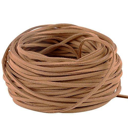 ildlederschnur, 3 mm dick, 22,86 m lang, für Bastelarbeiten und die Schmuckherstellung braun ()