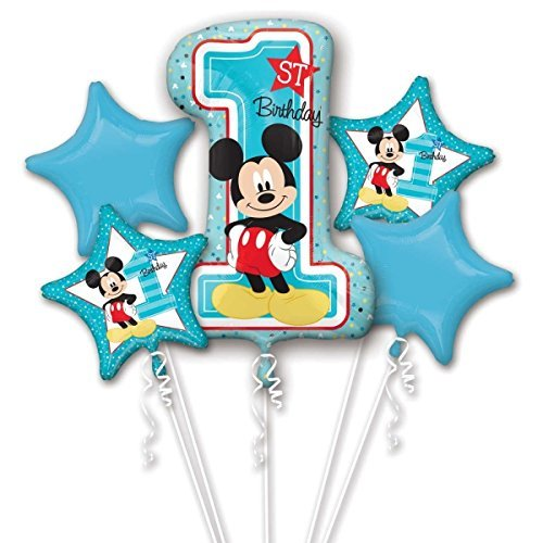 Amscan International – 3434101 'Mickey Mouse 1st cumpleaños ramo de globos de'