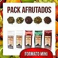 Aromas de Té - Fruité Mini pack contient du thé vert et Sorbet à la mangue Blanc/Vert et Blanc Sorbet Granadino/Te Pu erh rouge cerise/rouge Pu erh Baies/Te Verde esplandor