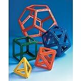 Conjunto de sólidos Plattonics de Polydron Frameworks (50 piezas)