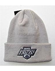 Los Ángeles Reyes Gris Raised Manguito de punto del sombrero de la gorrita tejida LA NHL