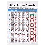 Balai 4-Saiter-Gitarrenakkord-Lehrtafel-Poster Musikunterricht, Musiklernhilfe, Lehrtafel für Anfänger
