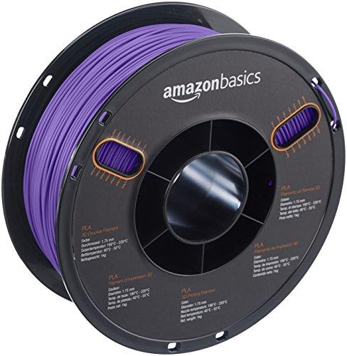 AmazonBasics - PLA 3D-Drucker Filament, 1,75 mm, Violett, 1 kg Spule