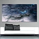 XIAOXINYUAN Große Leinwand Poster Kunstdrucke Cloud Abstract Schwarz Blau Öl Malerei Für Wohnzimmer Dekorativen Bild Pop 50 X 100 cm Ohne Rahmen