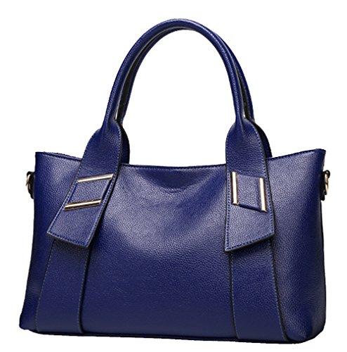 Muster Paket Beutel Litschi Show Schulter Großes Yan Beutel Handtasche Kurier Blau Gelb Damen wW0tnwX