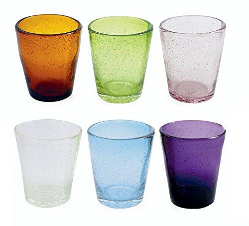 Villa D´ESTE Gläser-Set 6tlg Wave/Cancun Wasser Vielfarbig - Amber Glas Wasser
