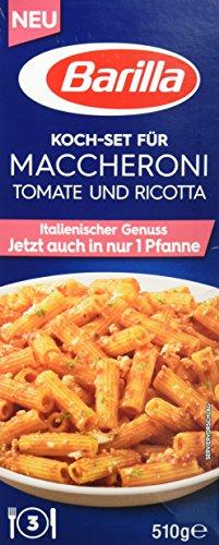 Barilla Pasta & Sauce Set für Maccheroni Tomate und Ricotta – 1er Pack (1x510g)