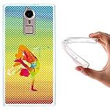 WoowCase Doogee F5 Hülle, Handyhülle Silikon für [ Doogee F5 ] Tanzender Junge - multifarbigen Punkten Handytasche Handy Cover Case Schutzhülle Flexible TPU - Transparent