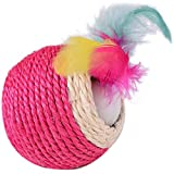 Funny Pet Products Kratz Sisal Ball Dual Löcher mit Feder