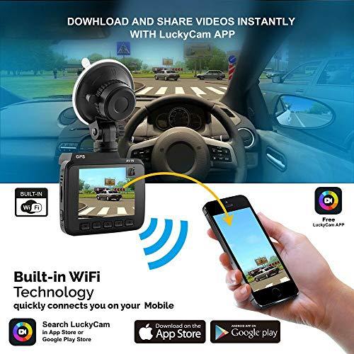 AZDOME GS63H 4 K 2160P Auto-Dashcam WiFi DVR GPS Nachtsicht + 32 G TF-Karte -