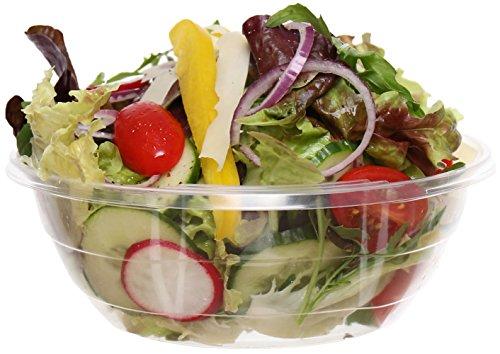 idea-station Kunststoff-Schalen einweg 500 ml 50 Stück, transparent, Lebensmittel-geeignete stapelbare Plastik-Schüsseln mit stabilem Boden für verschiedenste Einsatzzwecke