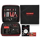 Authentique Coil Master V3 Kit DIY Ensemble D'outils 13pcs Vape Tool Kit Avec Coil Jig (V4)/Ohmmètre 521 Tab Mini V2/Fil résistif KA1/Coton Bio Pour RBA, RTA, RDA, RDTA,Atomiseur Reconstructible
