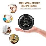 Mini Termoventilatore Portatile Ventilatore Elettrico Riscaldatore a Parete con Scarico a Parete riscaldamento ceramica elettrico per la casa e l' ufficio (nero)