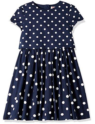 RED WAGON Mädchen Kleid Polkadot, Blau (Blue), 110 (Herstellergröße: 5 Jahre)