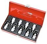 KS Tools 1/2922.18909tlg. Steckschlüssel Set Torx-Schraubendreher T20–T60