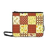 WYYWCY Red Autumn Patchwork benutzerdefinierte hochwertige Nylon dünne Clutch Bag Cross-Body Bag...