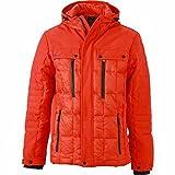 JAMES&NICHOLSON - anorak doudoune veste matelassée JN1102 - HOMME - ski - sports d'hiver - neige (Rouge grenadine, XL)