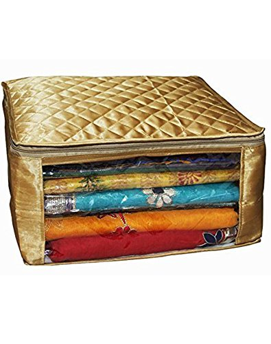 Neysa Saree cover large size upto 15 Sarees in Golden Satin / Wedding Gift (Set of 12)
