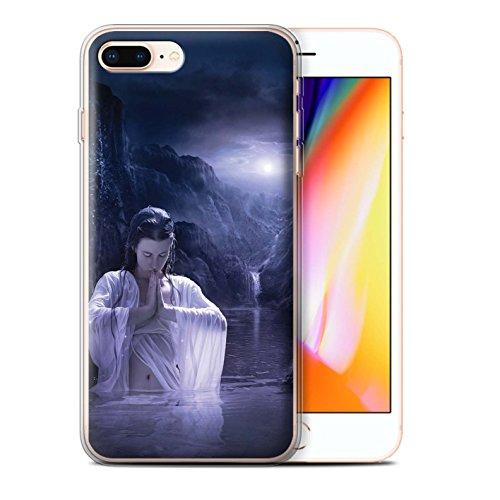 Officiel Elena Dudina Coque / Etui Gel TPU pour Apple iPhone 8 Plus / Couleurs d'Automne Design / Un avec la Nature Collection Lagune À la Nuit