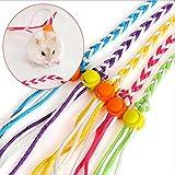 AnkamalElec 1 STÜCK Gelegentliche Leine Seil Bunte Handgemachte Kleine Haustier Nylon Traktion Halsband Leine Haustier Seil Maus Hamster Eichhörnchen Pet Ratte Seil