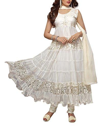 Fabfiza Womens Brasso & Net Self Print Suit Piece Dress Material (Fbfn-1448 _White _Free Size)