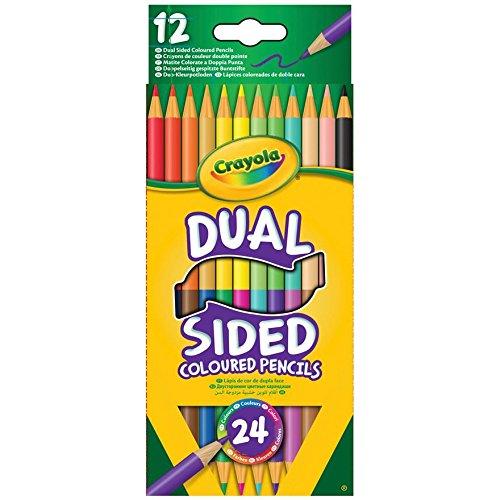 Crayola, 12pastelli a doppio lato e doppio colore