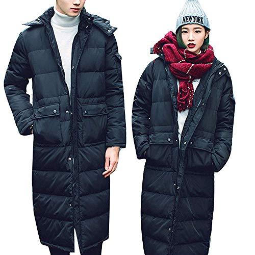 KaloryWee Heißer Damen Herren Parka Daunenjacke Winter Jacke Lange Mode Kapuzen Warme Dicke - Hybrid Duffle