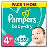 Pampers Baby Dry  - Pañales para bebés, Talla 4+ (10-15kg), 152 unidades