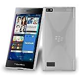 Blackberry LEAP Silikon-Hülle in HALB-DURCHSICHTIG von