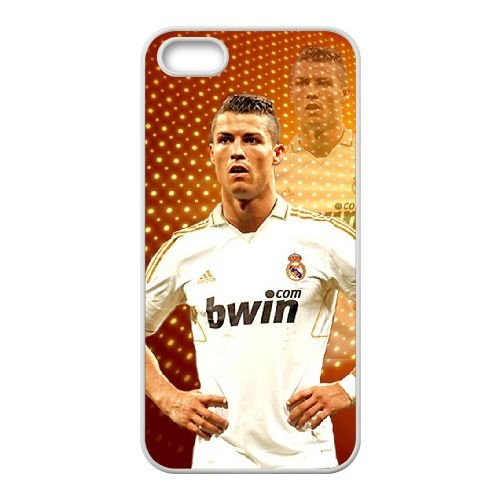 Cristiano Ronaldo coque iPhone 4 4S Housse Blanc téléphone portable couverture de cas coque EBDXJKNBO16296