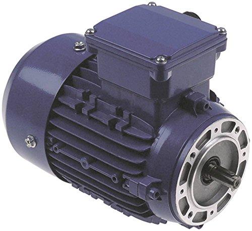 Motor ohne Getriebe 230/400-280/480V 0,18/0,22kW 50/60Hz Welle ø 11mm 3 -phasig 1,2/0,7-1,15/0,67A