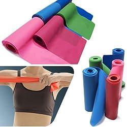 TOOGOO (R) 1.5m Banda Elastica para Pilates Yoga Aerobico Entrenamiento de Resistencia