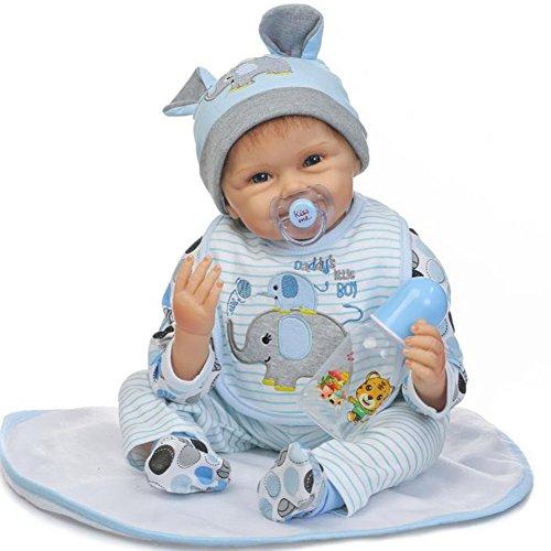 ZIYIUI 22 Pulgadas 55cm Cuerpo Suave Reborn Baby Doll Vinilo de Silicona Suave Hecho a Mano