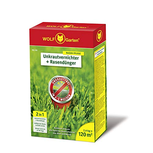 Über 120 Gesunde (WOLF-Garten - 2-in-1: Unkrautvernichter plus Rasendünger SQ 120; 3840720)