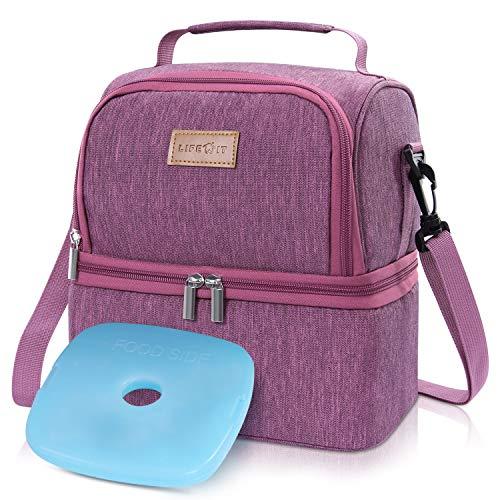 Lifewit Kühltasche klein mit Kühlakku für kühlbox Lunchtasche isoliert Thermotasche Isoliertasche Picknicktasche für Lebensmitteltransport,Rosa