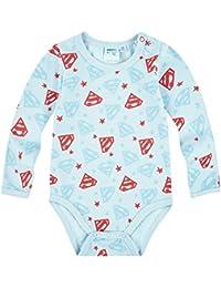 Body bebé niño manga larga Superman azul claro de 3a 24Meses