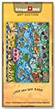 Grusskarte & Schweizer Premium Schokolade, Postkarte - Art Edition Lydia van den Berg - Three Levels