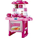 Pacific Toys Kids Kitchen Cooking Set With Music And Lights, (Pink)