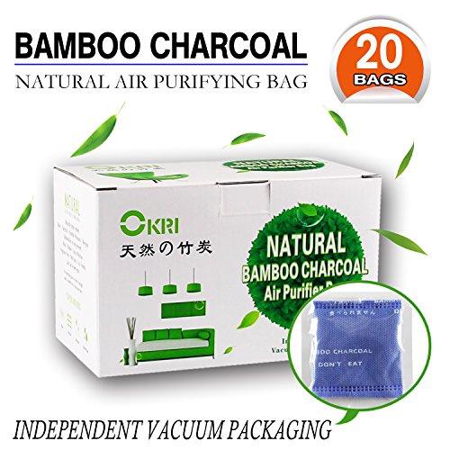 Bester Bambuskohle Geruchsabsorber und Lufterfrischer, getesteter Kühlschrank- und Kleiderschrankdeodorisierer, entfernt ungewollte Gerüche, verhindert Schimmel und Bakterien, hält bis zu 2 Jahre