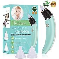 Nasensauger Baby Nasal Aspirator USB Aufladen Nasenschleimentferner Sicherer und Schneller Sowie Hygienischer, 5 Saugstufen mit 2 Größen Silikon Tipps Tragbar Nasensauger für Neugeborene