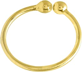 Abhooshan Gold Plated Body/Nose Rings Clip On In 92.5 Sterling Silver With No Piercing For Women