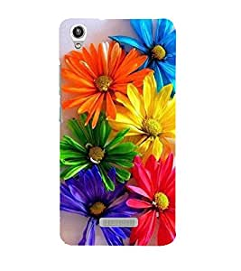 Vizagbeats Flowers Back Case Cover for Lava Pixel V1
