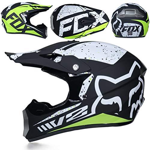 Erwachsene Full Face Cross-Country Motorrad Helm stoßfest Motorradhelme für alle Jahreszeiten Motocross Racing Sicherheit Schutzkappen 24 Farben