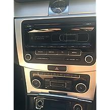 Original VW Radio RCD 310 - CD y MP3, VW 1K0 035 186 AN, negro - blancas Pantalla