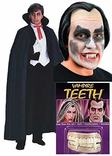 Dracula Vampire Dents Costume poncho pour Perruque