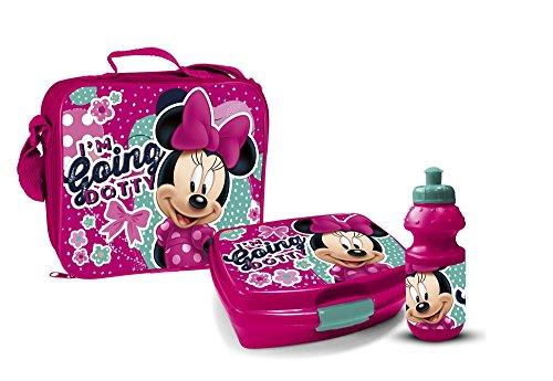 Star Licensing Disney Minnie Maus Pausenset Lunchbox 3 Teile Tasche Brotdose Trinkflasche