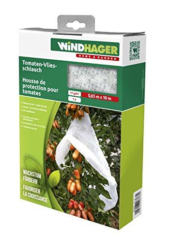 Windhager Tissu non-tissé croissance, tomates non-tissé de tuyau, 17 g/m2, blanc, 1000 x 65 x 0,1 cm, 06270 Toison