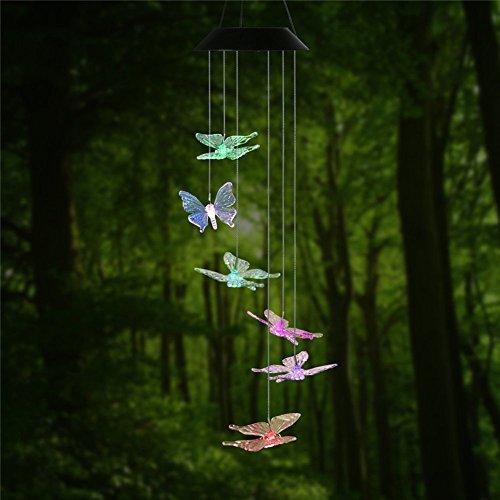Windspiel  bluesees LED Solar Wasserdicht zum Aufhängen Chime Licht für Outdoor für den Gartenbau Beleuchtung Home Terrasse Dekoration